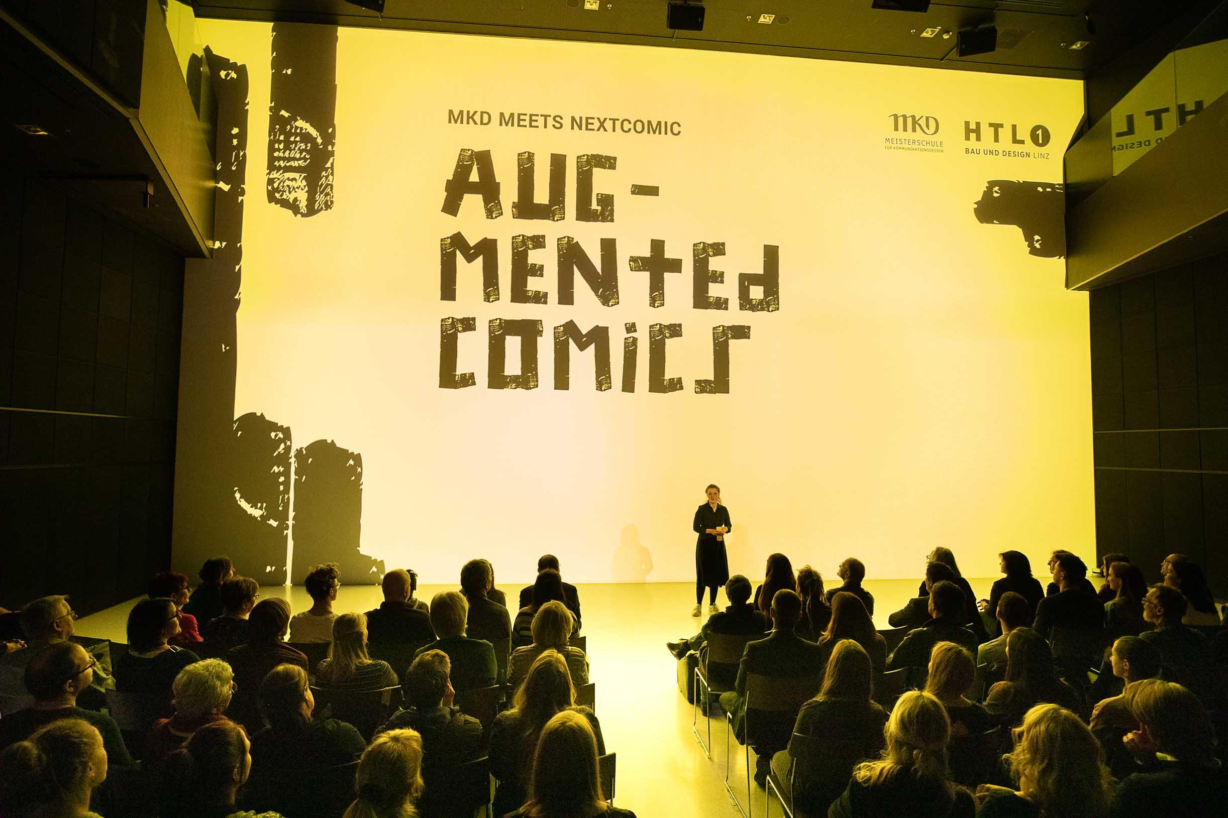 Meisterschüler präsentieren Augmented Comics im Deep Space des AEC Linz